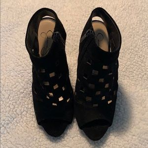 Jessica Simpson Black Suede Heels Size 9